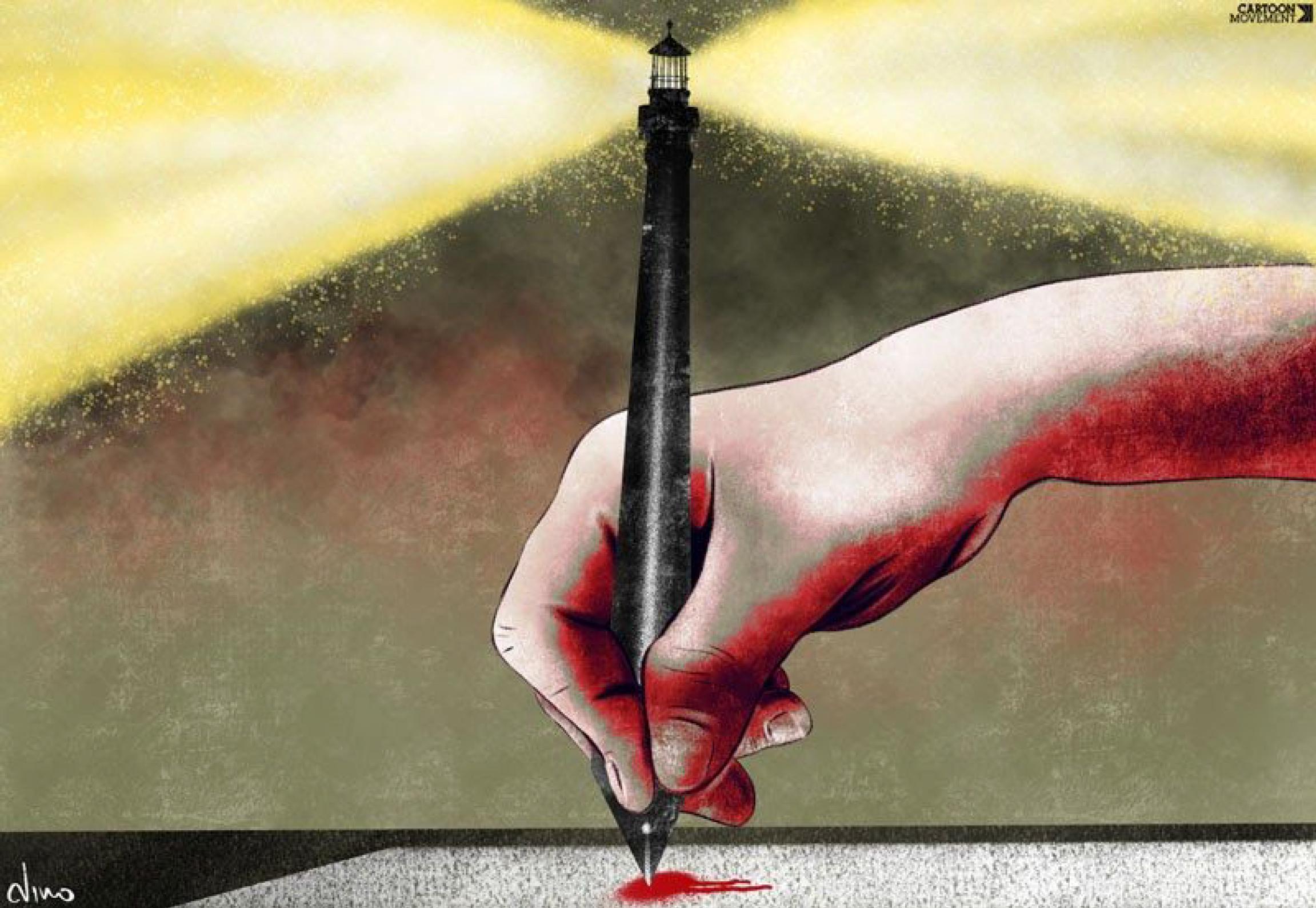 The pen as a beacon of freedom - Dino - Greece